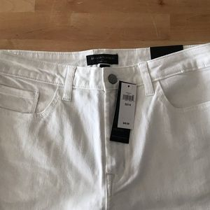 Banana Republic Wide Leg White Jeans